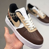 GUCCI x Nike Air Force 1 colorblock graffiti logo low-top sneakers shoes