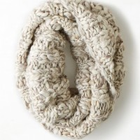 AEO Women's Shimmery Marled Snood (Cream)