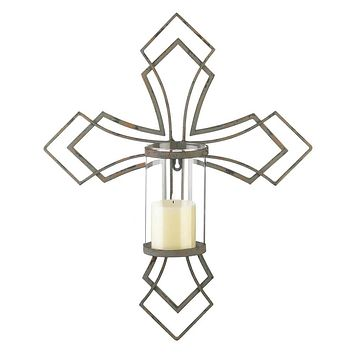 Candle Sconces Contemporary Cross Candle Wall Sconce