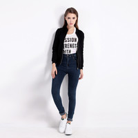 Outerwear Women Slim Bomber Jacket LAVELIQ