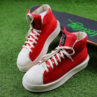 Best Online Sale Adidas x Rick Owens Mastodon Pro Shoes Red / White Sneaker