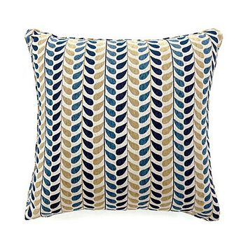 Dropp Contemporary Large Pillow, Blue & Yellow