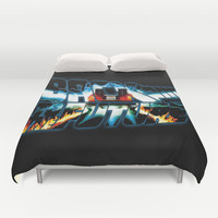 Back to the Future-Time travel Duvet Cover by Augustinet