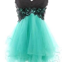 WowDresses — Fantastic Lace Ball Gown Sweetheart Mini Prom Dress