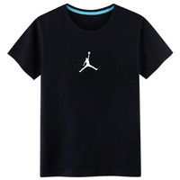 "Fashion Casual Unisex Lover Basketball Fan ""Flying Jordan"" Pattern Print Cotton T-shirt"