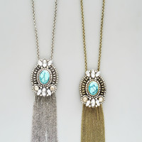 Gatsby Nights Necklace - Silver or Brushed Gold