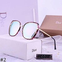 DIOR 2018 new ladies colorful retro large frame polarized color film sunglasses #2