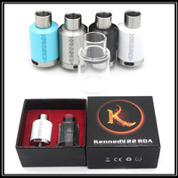 ECig rda kits KENNEDY 22 Dripper Atomizers Extra Glass Tube with Wide Bore Drip Tip 3mm Post Holes Vaporizers PEEK Insulator Fit Box Mods