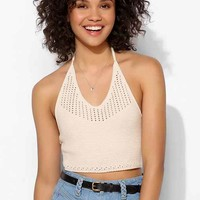 Pins And Needles Crochet-Stitch Halter Top-