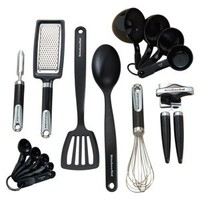 KitchenAid Black 15pc Kitchen Tool & Gadget Set