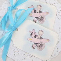 Baby Gift Tags - Airplane - Baby Shower - Birthday - Favor Tags