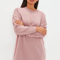 Missguided - Pink Oversized Plain Sweater Dress