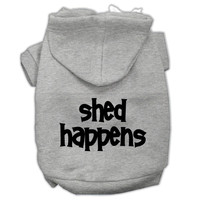 Shed Happens Screen Print Pet Hoodies Grey Size XXL (18)
