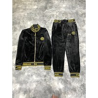 Versace 2020 new color matching letter printing sports suit two-piece