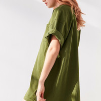 Silence + Noise Lara Mock Neck Tunic Tee | Urban Outfitters