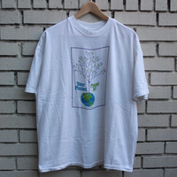 "Vintage ""Your Planet, Plant It"" Shirt Go Green 100% cotton made in U.S.A. reduce reuse recycle environmentalist grim reaper pollution"