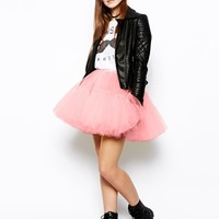 ASOS Skater Skirt In Mesh