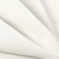 """1 X White 60"""" Wide Premium Cotton Blend Broadcloth Fabric By the Yard"""