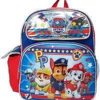 """NEW ARRIVE Paw Patrol PP Chase, Marshall, Tan 12"""" Toddler Backpack For Boys"""