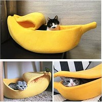 Banana Pet Portable Kennel Bed