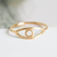 open evil eye knuckle rings,funky knuckle rings,mid knuckle ring,cute rings,jewelry rings.rings for women,couple rings,gold knuckle ring