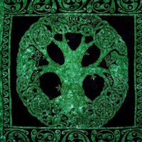 Celtic Tree Of Life Tapestry-Unique Home Decor-Emerald