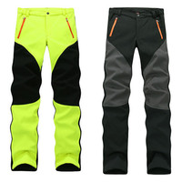 2016 Women's Winter Inside Fleece Softshell Pants Outdoor Thick Warm Brand Hiking Trekking Camping Skiing Female Trousers MB017