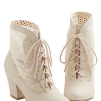 Bait Footwear French Lace Against Time Bootie in Cream