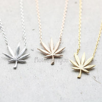 Marijuana leaf necklace, leaf necklace, marijuana necklace, Weed Leaf Necklace, marijuana, Pot Leaf jewelry,