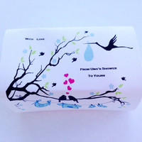 Custom Shower/Lav & Oat Baby Shower Special/2 oz. Wrapped Guest Soap Bars/Soapie Shoppe Haywood Mall