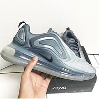 Nike Air Max 720 Fashion Men Women Casual Air Cushion Sport Running Shoes Sneakers Grey