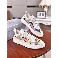 prada men fashion boots fashionable casual leather breathable sneakers running shoes 205