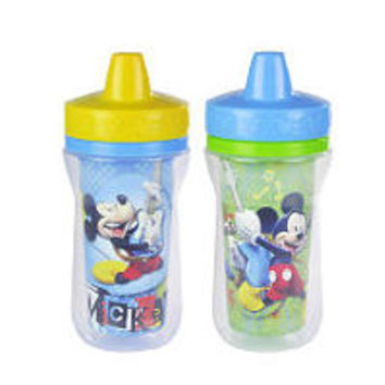 Disney Baby Mickey Mouse Insulated Sippy Cup with One Piece Lid - 9 oz. 2 Pack