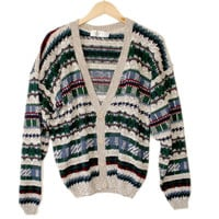 Vintage 90s Ski / Cosby Cardigan Ugly Sweater