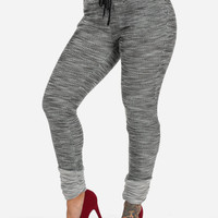 Knit Skinny Contrast Trousers