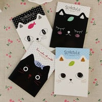 1pcs Office Stationery Cute Cat Notebook Students Diary Filofax Notepad School Supplies Gift Sent at Random