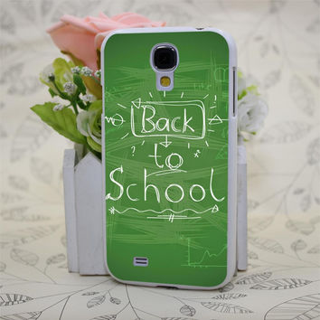 Back To School Handwriting White Hard Case Cover for samsung galaxy S3 S4 S5 S6 & mini edge