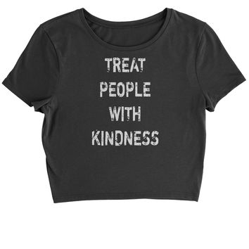 Treat People With Kindness Cropped T-Shirt