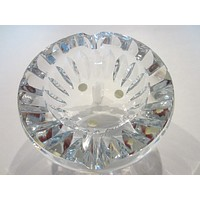 Baccarat France Vintage Glass Signature Crystal Ashtray