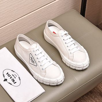 prada men fashion boots fashionable casual leather breathable sneakers running shoes 65
