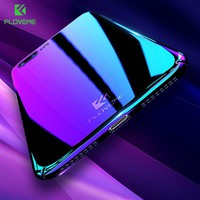 FLOVEME Hard Case for iPhone 6 6s 7 7 Plus Case for iPhone 8 8 plus Gradient Phone Accessories PC+Plating Blue-Ray Light Capa