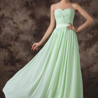 Grace Karin Strapless Chiffon Ball Gown Long Evening Formal Dress Red Carpet Prom Party Dress 8 Size US 2~16 CL6238