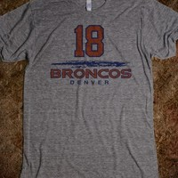 Awesome Denver Broncos 18 Peyton Manning T-Shirt