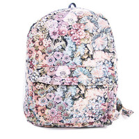 Vintage 90s Floral Tapestry Woven Backpack by generationthrift