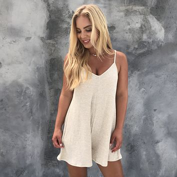 Cuddle With Me Ribbed Romper