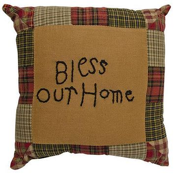 *Tea Cabin Bless Our Home Pillow