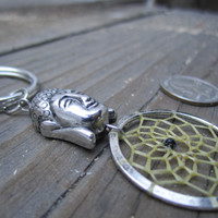 Buddha Dream Catcher Keychain