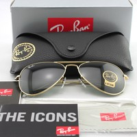 New Ray-Ban RB 3025 W3234 (55mm) Metal Gold Frame / Grey Anti-Reflective Lens