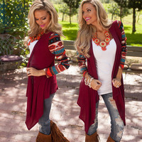 Long Sleeve Women Cardigan Female Asymmetrical Knitted Sweater Casual Cardigans Sweaters Air conditioning Shirts D8251