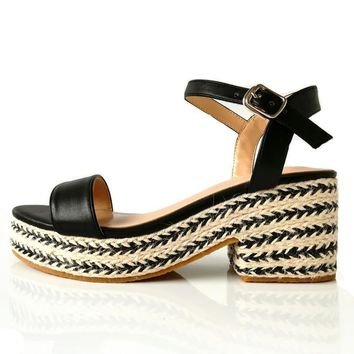 Gracie Woven Wedges - Black
